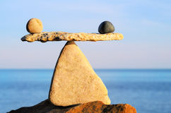 Conceptual balance Royalty Free Stock Images
