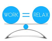 Conceptual balance of work and relax Stock Image