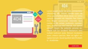 404 Conceptual Banner royalty free illustration