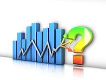 Conceptual bar graph. Representing the instability of financial markets vector illustration