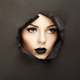 Conceptual beauty portrait of beautiful young woman Royalty Free Stock Photography