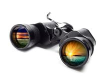 Conceptual binoculars Stock Photos