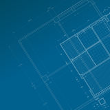 Conceptual blueprint Stock Photography