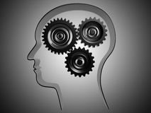 Conceptual brain while working Stock Images