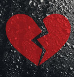 Conceptual broken heart royalty free stock photography
