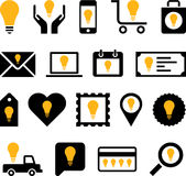Conceptual Bulb icons Stock Photography