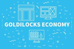 Free Conceptual Business Illustration With The Words Goldilocks Economy Royalty Free Stock Photo - 111591885