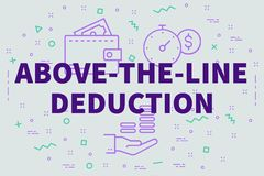 Conceptual business illustration with the words above-the-line d. Eduction vector illustration