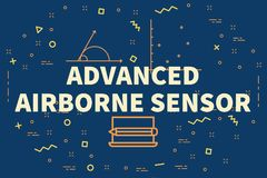 Conceptual business illustration with the words advanced airborn. E sensor Royalty Free Stock Image