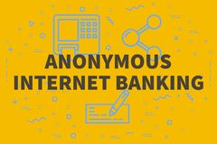 Conceptual business illustration with the words anonymous intern. Et banking Royalty Free Stock Images
