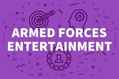 Conceptual business illustration with the words armed forces ent. Ertainment Stock Photo