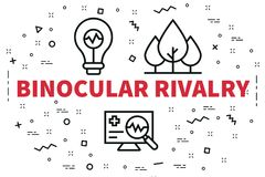 Conceptual business illustration with the words binocular rivalry royalty free illustration
