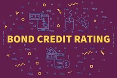 Conceptual business illustration with the words bond credit rati. Ng Royalty Free Stock Images