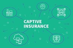 Conceptual business illustration with the words captive insuranc. E Royalty Free Stock Photo