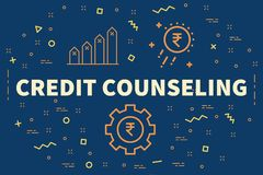 Conceptual business illustration with the words credit counselin. G Stock Photography