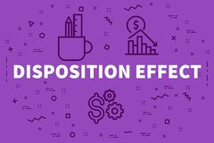 Conceptual business illustration with the words disposition effe. Ct Royalty Free Stock Photography