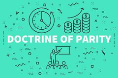 Conceptual business illustration with the words doctrine of pari. Ty Royalty Free Stock Photography