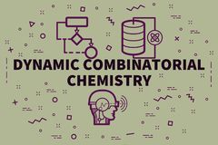 Conceptual business illustration with the words dynamic combinatorial chemistry vector illustration