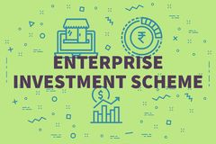 Conceptual business illustration with the words enterprise investment scheme vector illustration