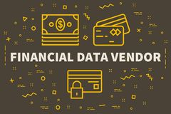 Conceptual business illustration with the words financial data v. Endor Stock Images