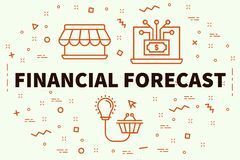 Conceptual business illustration with the words financial foreca. St Royalty Free Stock Photography