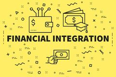Conceptual business illustration with the words financial integr. Ation Stock Photography