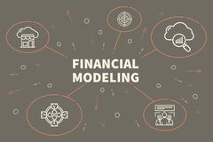 Conceptual business illustration with the words financial modeli. Ng Royalty Free Stock Photos