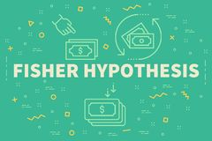 Conceptual business illustration with the words fisher hypothesi. S Stock Images