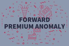 Conceptual business illustration with the words forward premium. Anomaly Stock Image