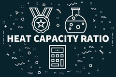 Conceptual business illustration with the words heat capacity ra. Tio Royalty Free Stock Photography