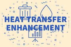 Conceptual business illustration with the words heat transfer en. Hancement Royalty Free Stock Images