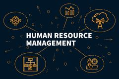 Conceptual business illustration with the words human resource m royalty free illustration