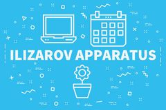 Conceptual business illustration with the words ilizarov apparat. Us Stock Photo