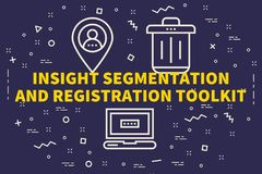 Conceptual business illustration with the words insight segmenta. Tion and registration toolkit Royalty Free Stock Photo