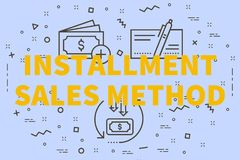 Conceptual business illustration with the words installment sale. S method Royalty Free Stock Images