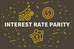 Conceptual business illustration with the words interest rate pa. Rity Stock Photos