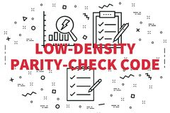 Conceptual business illustration with the words low-density pari. Ty-check code Stock Photo