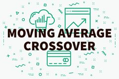 Conceptual business illustration with the words moving average c. Rossover Stock Image