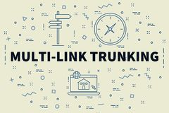 Conceptual business illustration with the words multi-link trunk. Ing Stock Images