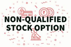 Conceptual business illustration with the words non-qualified st. Ock option Stock Image