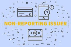 Conceptual business illustration with the words non-reporting is. Suer Stock Photos