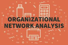Conceptual business illustration with the words organizational n. Etwork analysis Stock Photo