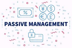 Conceptual business illustration with the words passive manageme. Nt Royalty Free Stock Images