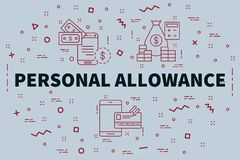 Conceptual business illustration with the words personal allowan. Ce Royalty Free Stock Photo