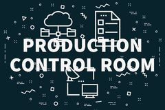 Conceptual business illustration with the words production contr. Ol room Royalty Free Stock Image