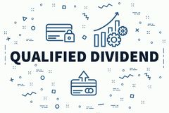 Conceptual business illustration with the words qualified divide. Nd Royalty Free Stock Photos