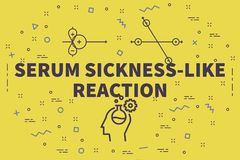 Conceptual business illustration with the words serum sickness-l. Ike reaction Royalty Free Stock Image