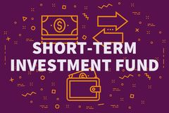Conceptual business illustration with the words short-term inves Stock Image