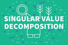 Conceptual business illustration with the words singular value d. Ecomposition Royalty Free Stock Photo