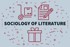 Conceptual business illustration with the words sociology of lit. Erature Royalty Free Stock Image